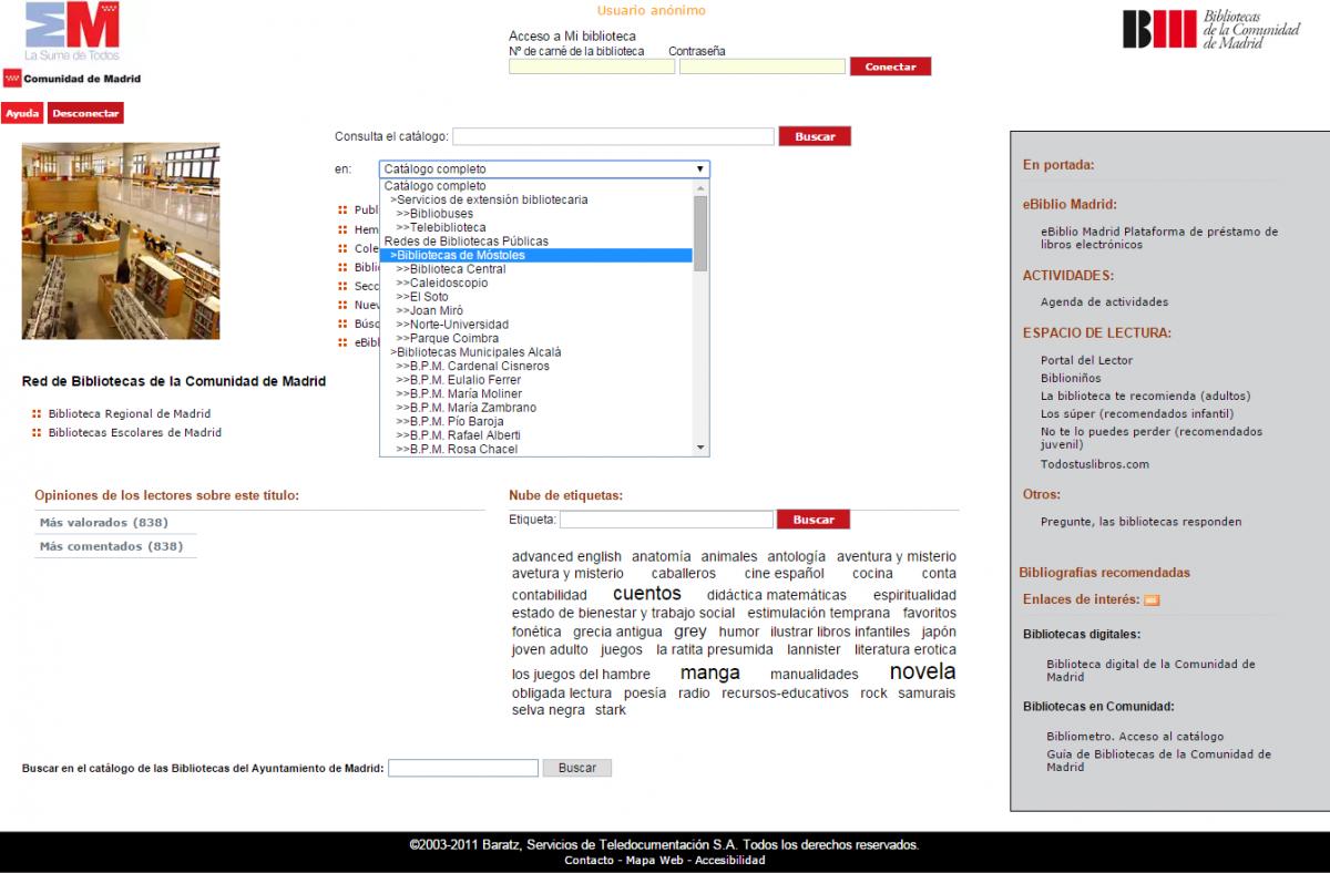 fc0ec40e7ba8 El Catálogo de la Red de Bibliotecas Públicas de la Comunidad de ...