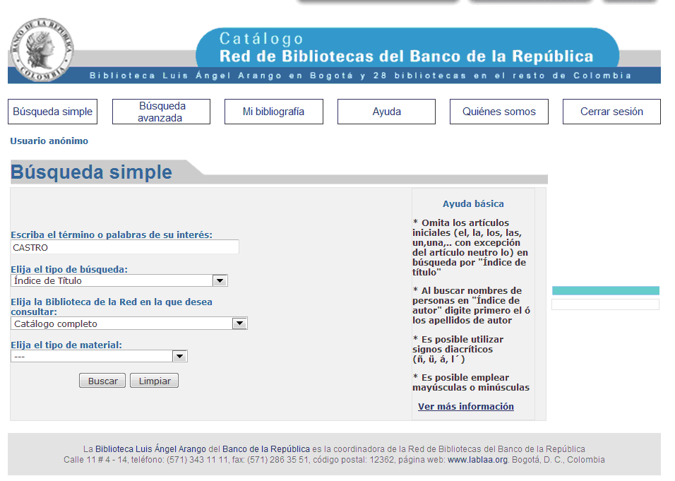 Red de Bibliotecas del Banco de la República