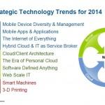 Las 10 tendencias tecnologías a tener en cuenta en la planificación estratégica para el 2014